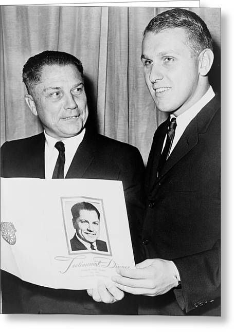 Missing Greeting Cards - James R Hoffa and Son 1965 Greeting Card by Mountain Dreams