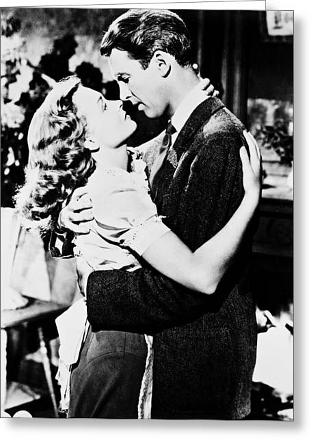 1940Õs Greeting Cards - James Stewart in Its a Wonderful Life  Greeting Card by Silver Screen