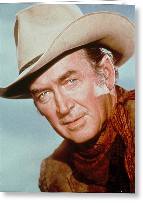 Breeds Greeting Cards - James Stewart in The Rare Breed Greeting Card by Silver Screen