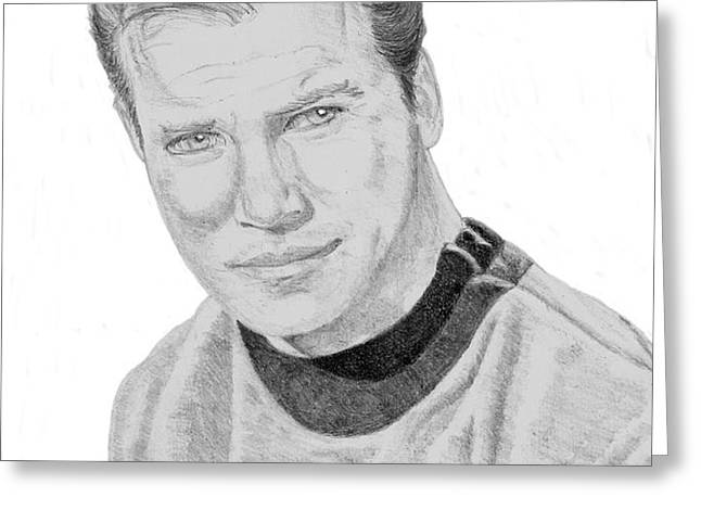 James Tiberius Kirk Greeting Card by Thomas J Herring