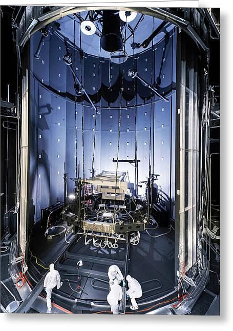 James Webb Space Telescope Testing Greeting Card by Nasa, Chris Gunn