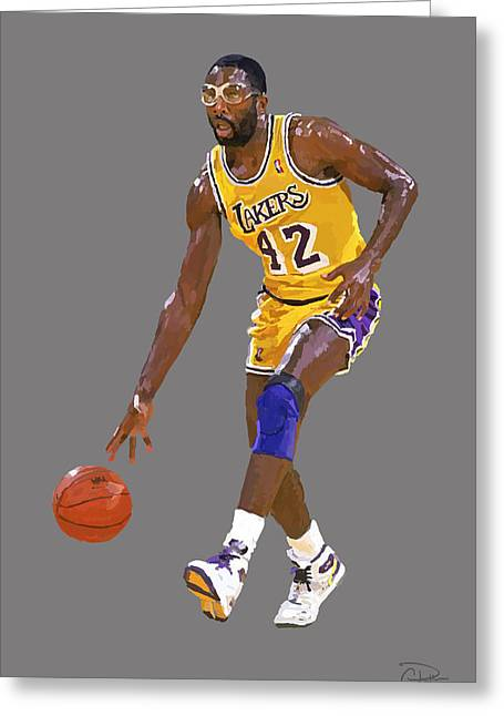 James Worthy Greeting Cards - James Worthy Greeting Card by Charley Pallos