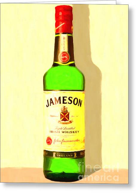 Sour Digital Art Greeting Cards - Jameson Irish Whiskey 20140916 Painterly v1 Greeting Card by Wingsdomain Art and Photography