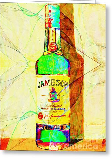 Sour Digital Art Greeting Cards - Jameson Irish Whiskey 20140916 Painterly v2 Greeting Card by Wingsdomain Art and Photography