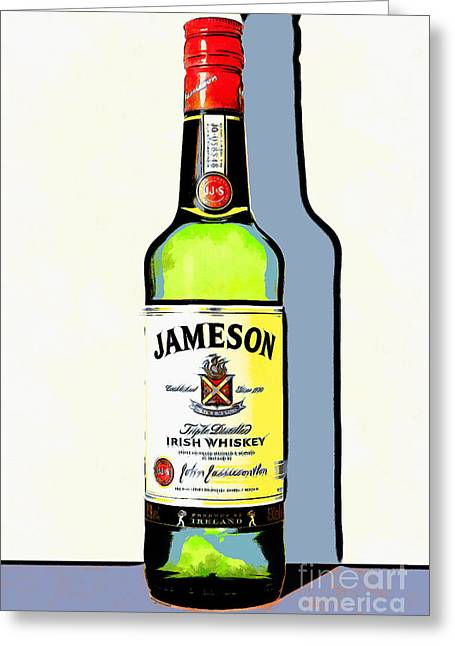 Sour Digital Art Greeting Cards - Jameson Irish Whiskey 20140916poster Greeting Card by Wingsdomain Art and Photography