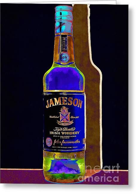 Sour Digital Art Greeting Cards - Jameson Irish Whiskey 20140916wc v2 Greeting Card by Wingsdomain Art and Photography