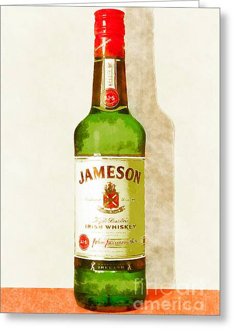 Sour Digital Art Greeting Cards - Jameson Irish Whiskey 20140916wc Greeting Card by Wingsdomain Art and Photography