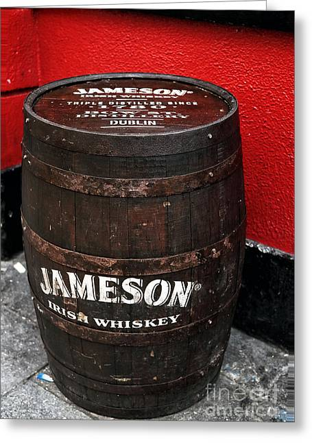Photo Art Gallery Greeting Cards - Jameson Irish Whiskey Greeting Card by John Rizzuto