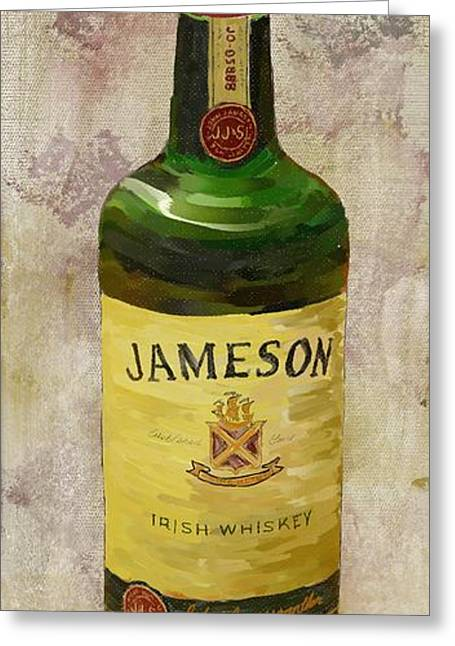 Unique Art Greeting Cards - Jameson Whiskey Greeting Card by Paul Freidlund