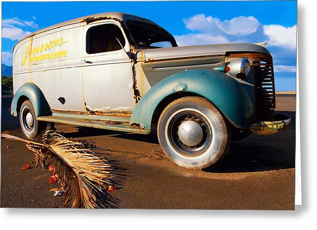 Hurricane Lamp Greeting Cards - Jamesons Truck Greeting Card by Ron Regalado