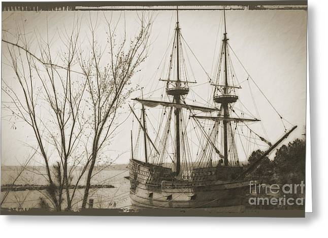 Wooden Ship Greeting Cards - Jamestown 1607 Greeting Card by Bob Hislop