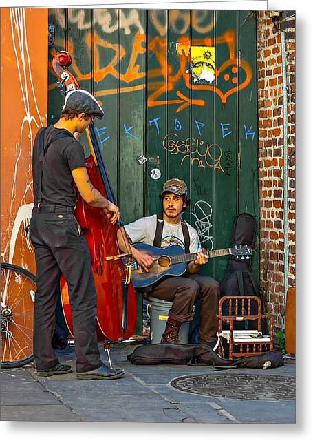 Trio Greeting Cards - Jammin in the French Quarter Greeting Card by Steve Harrington