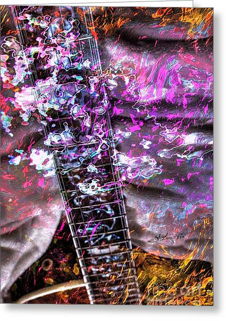 Acoustical Digital Art Greeting Cards - Jammin Out Digital Guitar Art by Steven Langston Greeting Card by Steven Lebron Langston