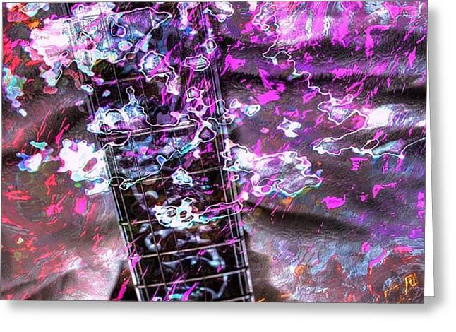 Jammin Out Digital Guitar Art by Steven Langston Greeting Card by Steven Lebron Langston