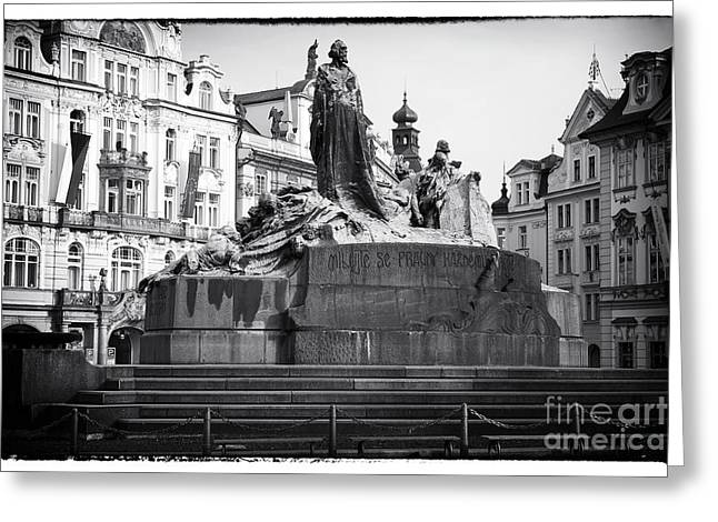Sculpture For Sale Greeting Cards - Jan Hus Greeting Card by John Rizzuto