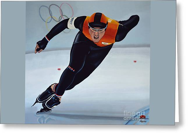 Winter Olympics Greeting Cards - Jan Smeekens Greeting Card by Paul Meijering