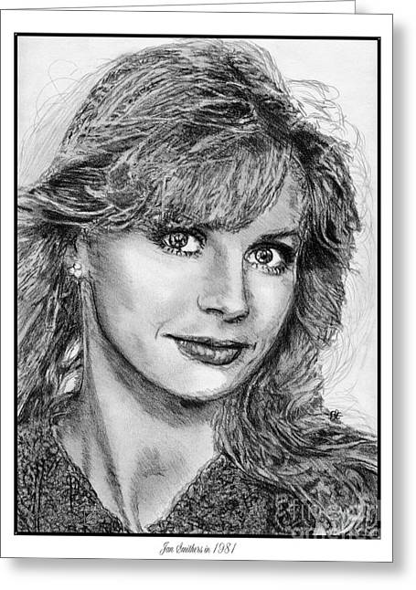 Fame Drawings Greeting Cards - Jan Smithers in 1981 Greeting Card by J McCombie