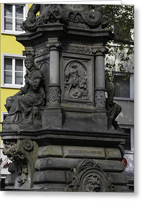 Valor Greeting Cards - Jan von Werth Fountain in Cologne Greeting Card by Teresa Mucha