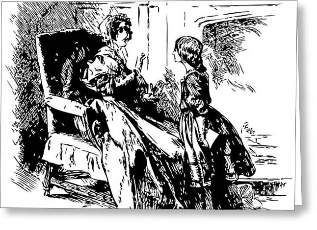 Jane Eyre Illustration Greeting Card by