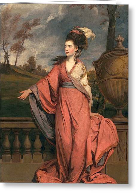 Full-length Portrait Greeting Cards - Jane Fleming, Later Countess Greeting Card by Sir Joshua Reynolds