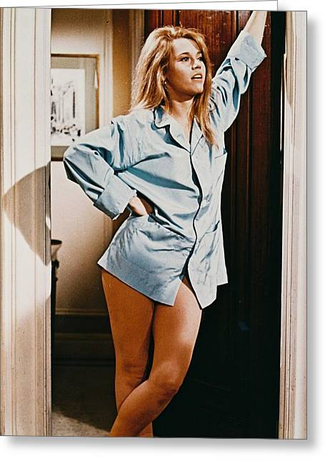 1960 Greeting Cards - Jane Fonda in Barefoot in the Park  Greeting Card by Silver Screen