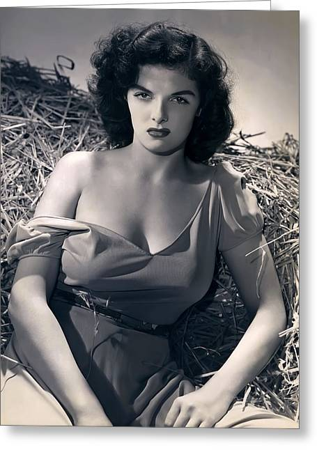 Academy Awards Oscars Greeting Cards - Jane Russell Greeting Card by Daniel Hagerman