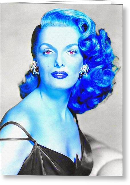 First Plane Greeting Cards - Jane Russell in The Revolt of Mamie Stover Greeting Card by Art Cinema Gallery