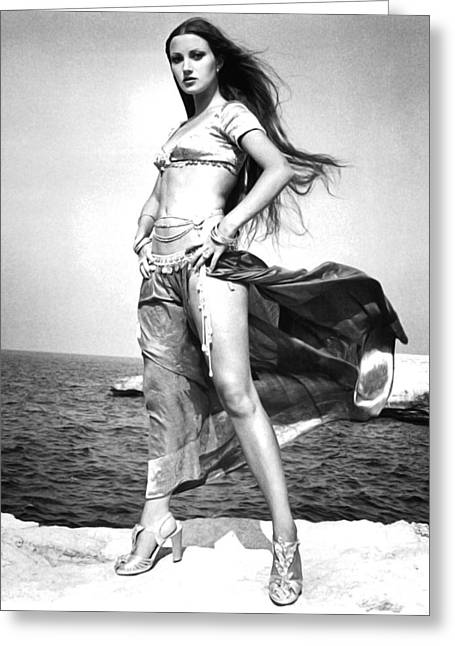 Jane Seymour In Sinbad And The Eye Of The Tiger  Greeting Card by Silver Screen