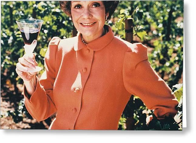 Jane Wyman in Falcon Crest  Greeting Card by Silver Screen