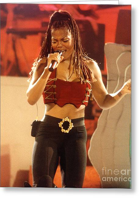 Janet Jackson Greeting Cards - Janet-94-Midriff Greeting Card by Gary Gingrich Galleries