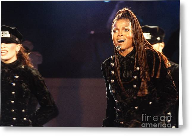 Janet Jackson Greeting Cards - Janet-94-Rhythm-1 Greeting Card by Gary Gingrich Galleries