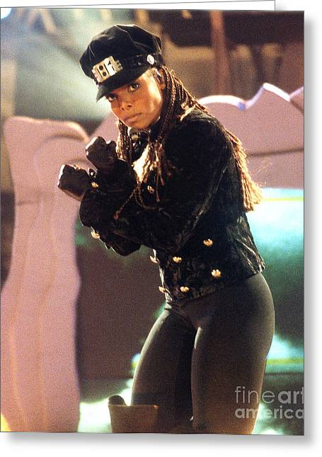 Janet Jackson Greeting Cards - Janet-94-Rhythm-2 Greeting Card by Gary Gingrich Galleries