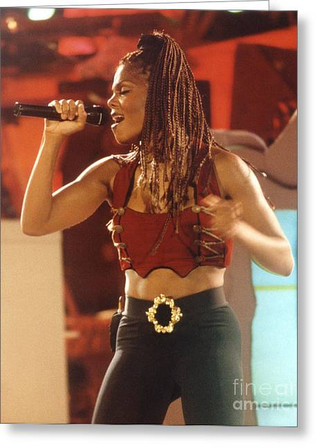 Janet Jackson Greeting Cards - Janet-94-Solo Greeting Card by Gary Gingrich Galleries