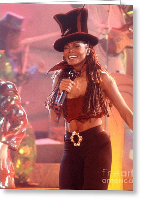 Janet Jackson Greeting Cards - Janet-94-Top Hat Greeting Card by Gary Gingrich Galleries