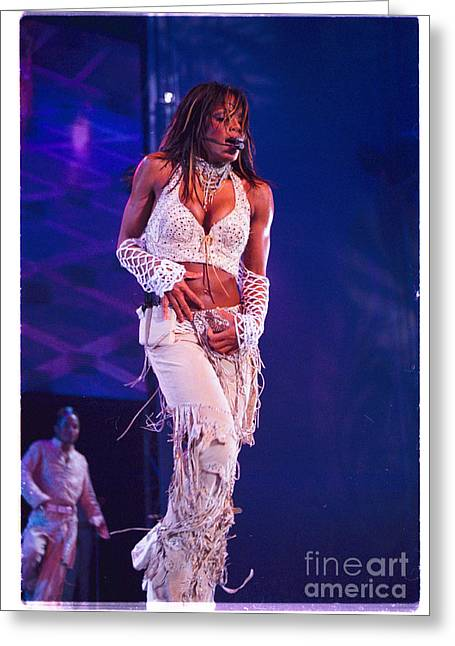 Janet Jackson Greeting Cards - Janet Jackson-01 Greeting Card by Timothy Bischoff