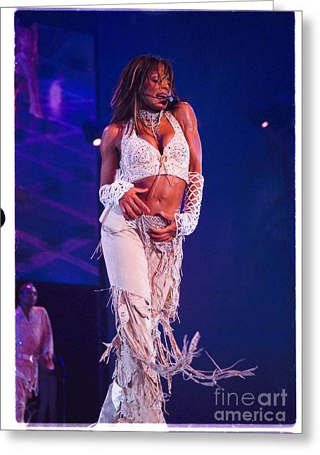 Janet Jackson Greeting Cards - Janet Jackson-02 Greeting Card by Timothy Bischoff