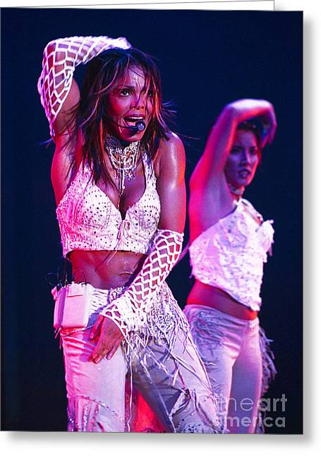 Janet Jackson Greeting Cards - Janet Jackson-05 Greeting Card by Timothy Bischoff