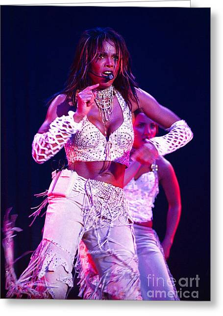 Janet Jackson Greeting Cards - Janet Jackson-07 Greeting Card by Timothy Bischoff