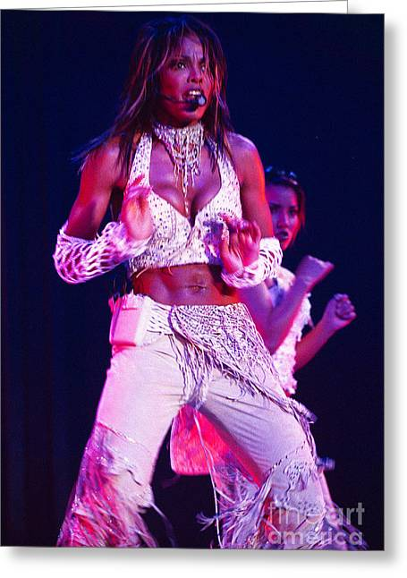 Janet Jackson Greeting Cards - Janet Jackson-08 Greeting Card by Timothy Bischoff