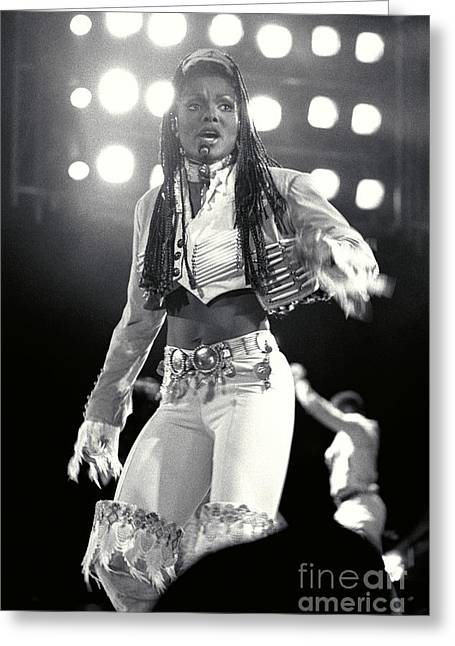 Janet Jackson Greeting Cards - Janet Jackson-11 Greeting Card by Timothy Bischoff