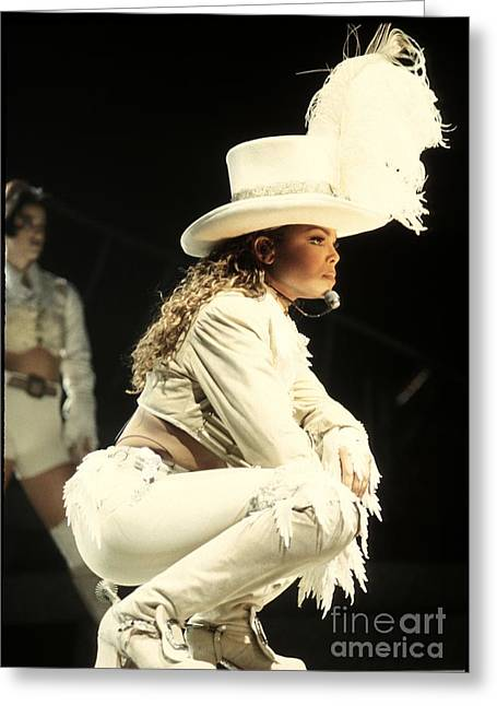 Janet Jackson Greeting Cards - Janet Jackson Greeting Card by Front Row  Photographs