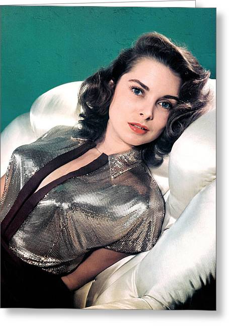 In The Studio Greeting Cards - Janet Leigh Greeting Card by Studio Photo