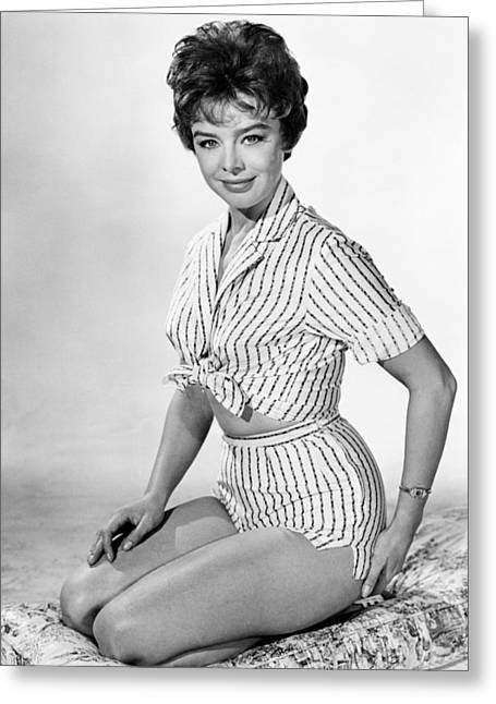Janet Greeting Cards - Janet Munro in The Day the Earth Caught Fire  Greeting Card by Silver Screen