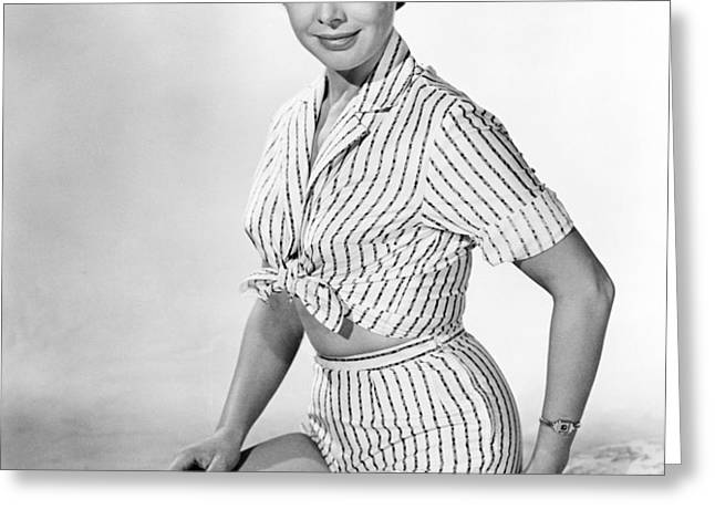 Janet Munro in The Day the Earth Caught Fire  Greeting Card by Silver Screen