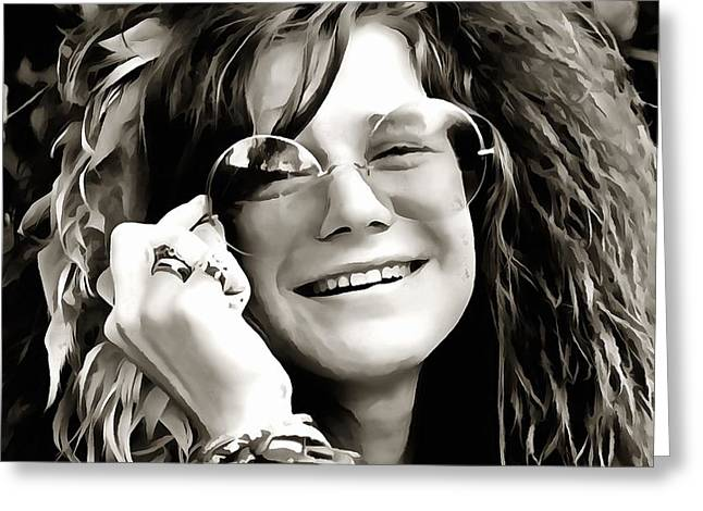 Janis Greeting Card by Dan Sproul