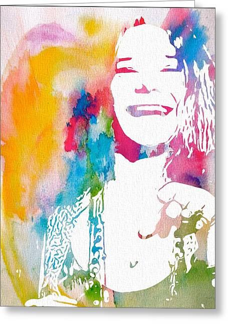 Janis Joplin Greeting Cards - Janis Joplin Greeting Card by Dan Sproul