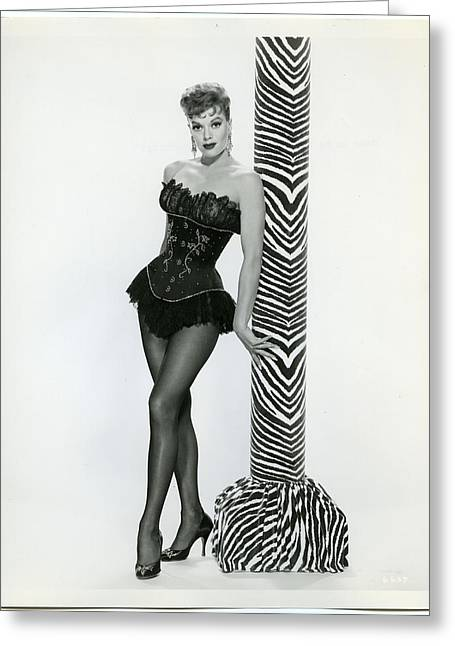 Janis Paige Greeting Card by Silver Screen