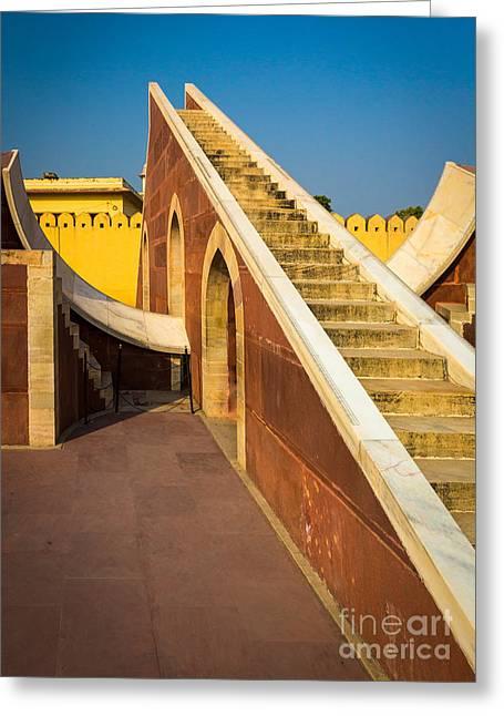 Staircase Greeting Cards - Jantar Mantar Greeting Card by Inge Johnsson