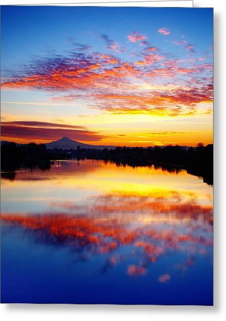 Darren Greeting Cards - Jantzen Beach Sunrise Greeting Card by Darren  White
