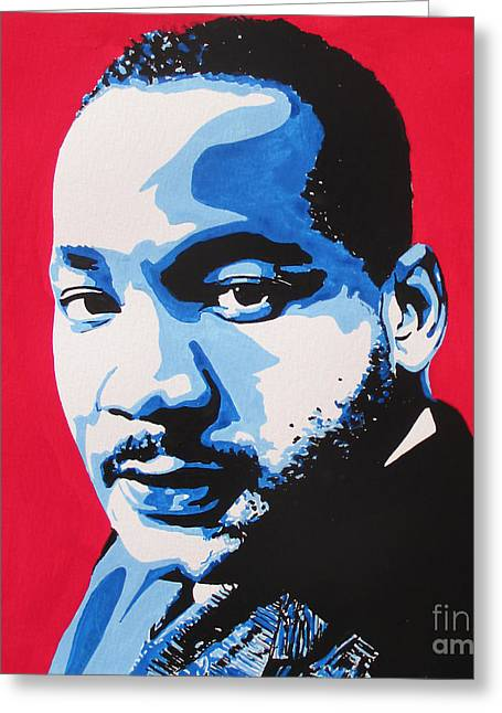 Martin Luther King Mixed Media Greeting Cards - January 20. 2015 Greeting Card by Nancy Mergybrower